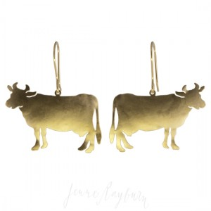 Unique artisan handcrafted Cow jewelry | Jenne Rayburn