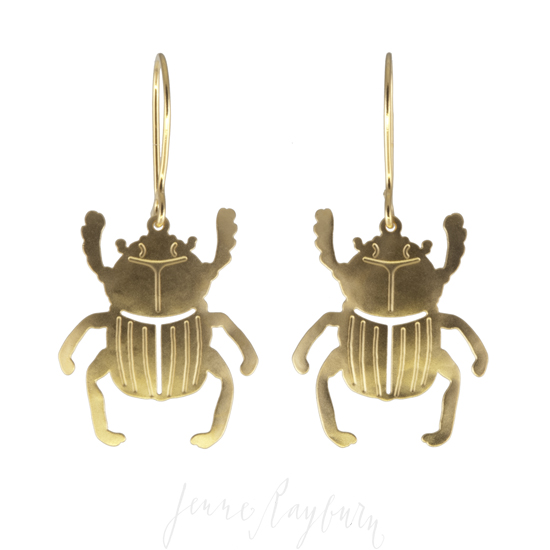 Unique artesian handcrafted Scarab jewelry | Jenne Rayburn