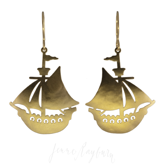 sailing ship, handcrafted, jewelry, symbolism, totem