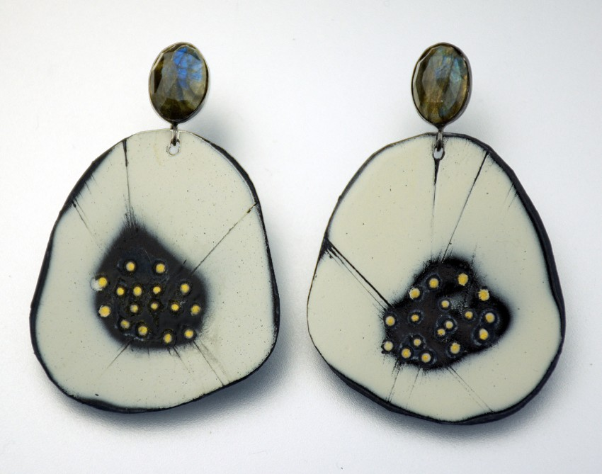 Enamel-Steel-Earrings-Labradorite-Jenne Rayburn