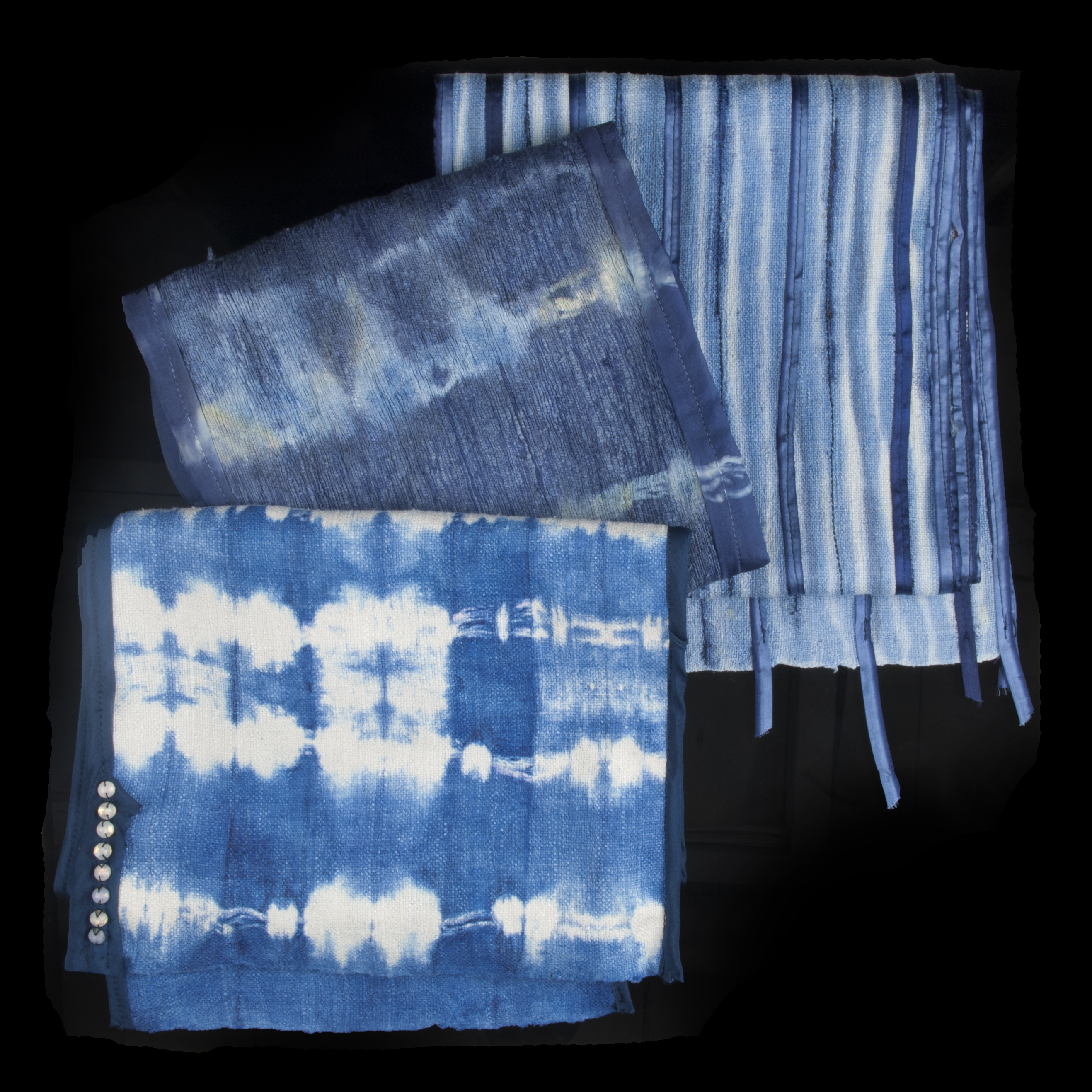 Jenne Rayburn Blue Dyed Silk Scarves