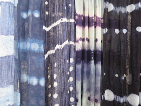 Blue Wool Hand Dyed Scarves By Jenne Rayburn