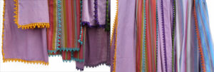 Cotton Trimmed Scarves By Jenne Rayburn
