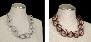 Contemporary Necklaces Crafted From Recycled Plastic Footwear - by Jenne Rayburn