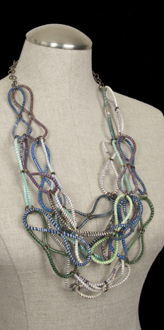 Recycled Plastic Loop Necklace by Jenne Rayburn
