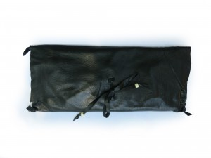 Handcrafted Black Leather Clutch by Jenne Rayburn