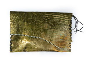 Handcrafted Metalic Leather Clutch by Jenne Rayburn