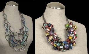 "Recycled Plastic ""Loops"" Statement Necklace, Featured at Miami Swim Week, Bloggers Night Out"