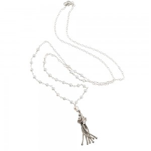 Jenne Rayburn | Antique Silver Victorian Tassel Necklace