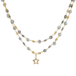 Jenne Rayburn | Bead Wrap Chain With Diamond Cut Star Charm