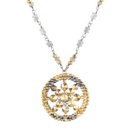 Jenne Rayburn | Faceted Medallion Pendant Necklace
