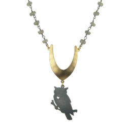 Jenne Rayburn | Antiqued Silver Owl Necklace
