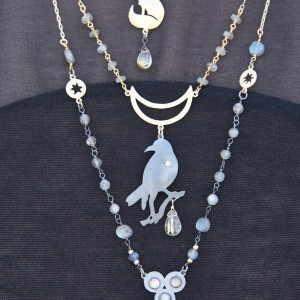 Jenne Rayburn | Handcrafted Antiqued Silver Raven Necklace