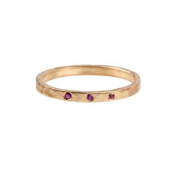 Jenne Rayburn | Tripartite Ruby Stacking Ring
