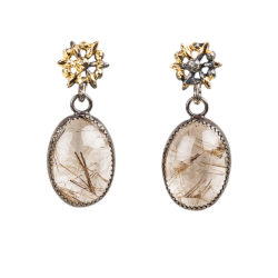 Jenne Rayburn | Rutilated Quarts Handcrafted Earrings