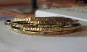 Handcrafted Unique Hammered Cuff Bracelets by Jenne Rayburn