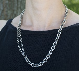 sterling-silver-chain-necklace-antiqued-jenne rayburn
