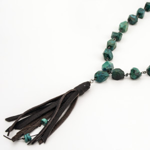 turquoise-necklace-chain-leather-tassel-jenne rayburn