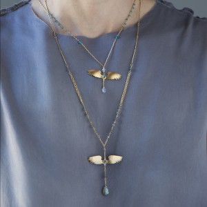 Jenne Rayburn | Golden Wings Necklace