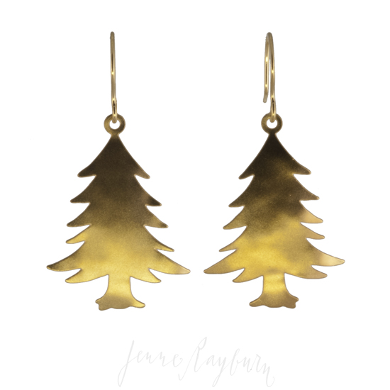 Handcrafted Pine Tree Earrings Handcrafted Jewelry Jenne Rayburn