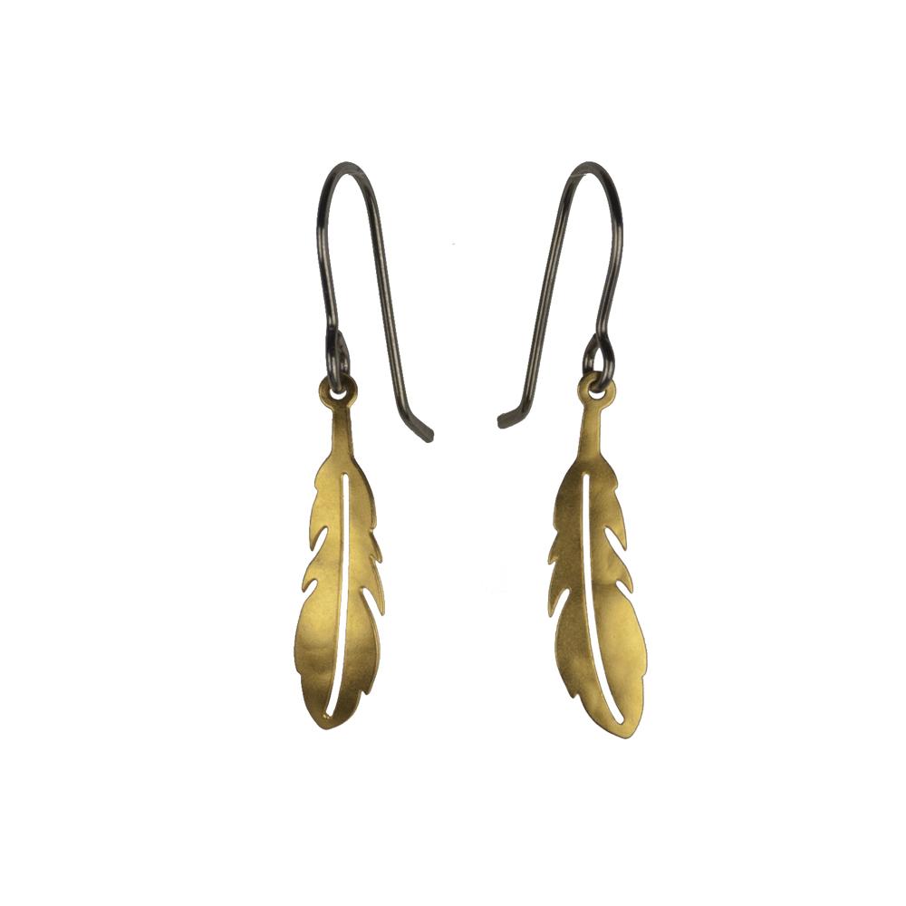 Jenne Rayburn Golden Feather Earrings