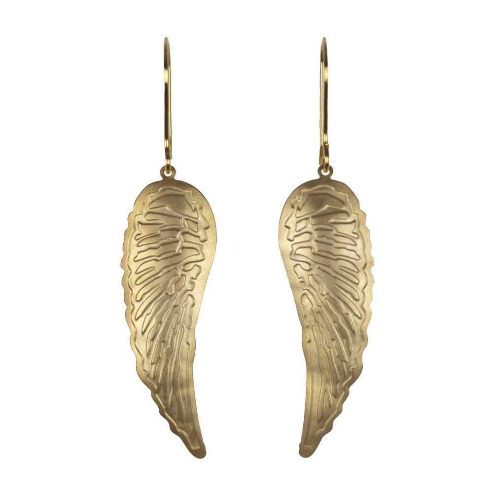 Jenne Rayburn Golden Wing Earrings